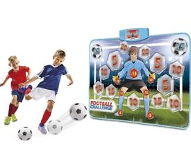 Football challenge electronic shooting practice mat and ball unwanted present