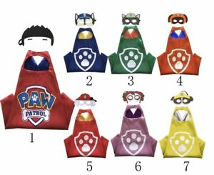 Brand New PAW PATROL Superhero Cape and Mask Costume Sets