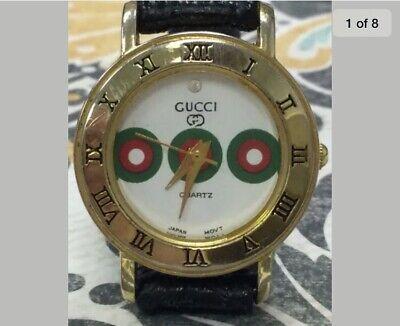 Beautiful Rare Vintage Estate 1980's Ladies GUCCI Red & Green Wrist Watch BD21