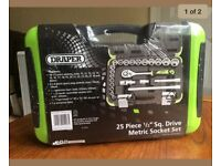 "Draper 25pc 1/2"" sq drive metric socket set"