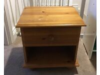 Pine cabinet with draw