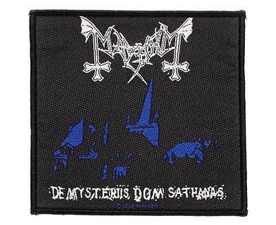 OFFICIAL LICENSED - MAYHEM - DE MYSTERIIS DOM SATHANAS SEW ON PATCH BLACK METAL