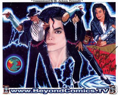 Michael Jackson Original Autograph Signed Art Drawing sketch MJ Jacket Glove Hat
