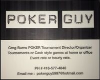 POKER DEALER (Cards and Chips & NOW a rubber poker table top)