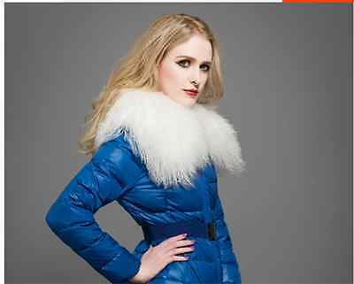 Wonderful Farm (White Real Wonderful Farm mongolian lamb fur collar /scarf Black Adorable )