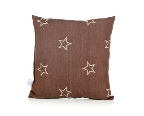 *NEW* Glenna Jean Carson Pillow, Denim Star, Brown, L3-2656 - Free Shipping!