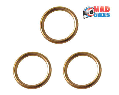 <em>YAMAHA</em> MT 09 COPPER EXHAUST GASKETS SINGLE X 3 MT09 ALL YEARS