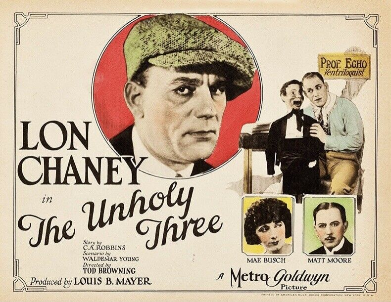 THE UNHOLY THREE - Rare 8mm Feature Film 1925 LON CHANEY Silent MGM Movie Print