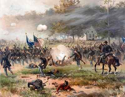 - US American Civil War Art - Battle of Antietam - Real Canvas Fine Art Print