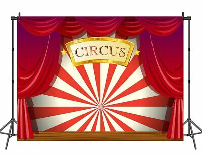 Circus Theme Photography Backdrop Red Curtain Backdrop Birthday Party Background - Circus Themed Backdrop