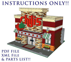 Lego Custom Modular Building - Chili's Restaurant - INSTRUCTIONS ONLY! 10182