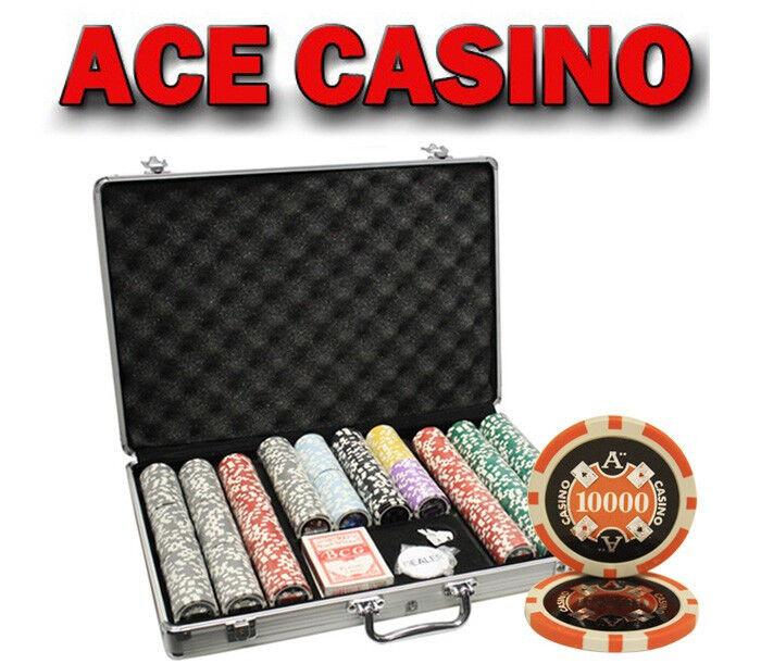 650pcs 14G ACE CASINO CLAY POKER CHIPS SET WITH ALUMINUM CASE CUSTOM BUILD
