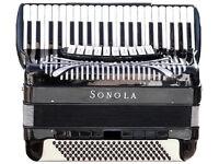 SONOLA SS 20 piano accordion JAZZ (Double cassotto )
