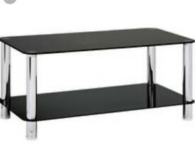 2 Black Glass Coffee Tables