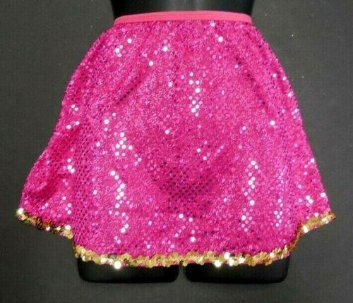 Wolff Fording Sequin Dot Skirt Fuchsia w/Gold Sequin Trim Medium Child