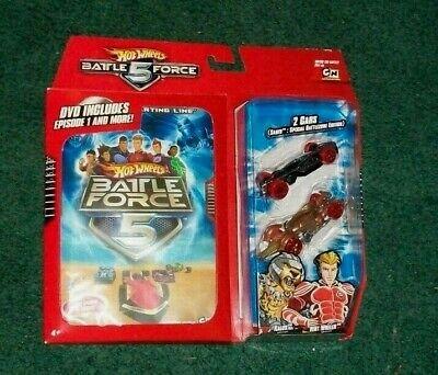 Hot Wheels Battle Force 5 Die Cast Car 2 Pack with DVD Saber Klaus Vert Wheeler