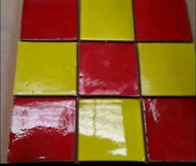 Various tiles , marble, slate , beams, floating shelves, cladding