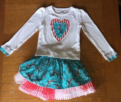 Dr Seuss Outfit (Handmade Cat In The Hat Skirt & Top Outfit 5/6 Dr. Seuss Boutique Custom Resell)