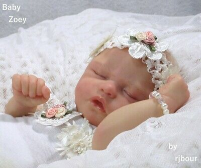 rjbour Joe Bourland BABY Zoey REBORN Newborn Trouble by Nikki Johnston, gebruikt tweedehands  verschepen naar Netherlands