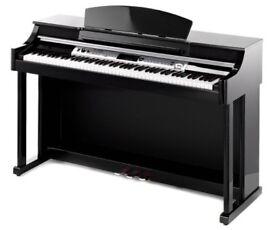 Thomann DP-50 Digital Piano Glossy Black full size weighted keys 3 pedals beautiful polished ebony