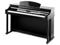 Thomann DP-50 Digital Piano Glossy Black full size weighted keys 3 pedals beautiful polished ebony