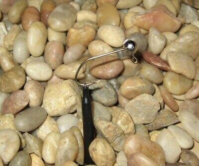 50 Hand made 1//8  no collar crappie pill jig heads w// #2//0 bronze sickle hook