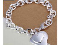 Silver plated chunky bracelet