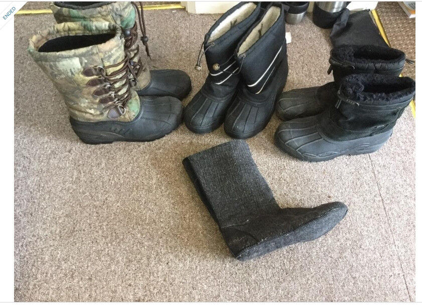 lineaeffe camouflage / Alpine ice age snow boots winter sea carp fishing size 10 11 free postage