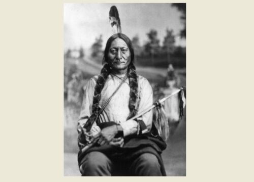 1881 Chief Sitting Bull PHOTO Portrait Lakota Indian, Battle of Little Bighorn