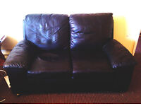 Sofa..Black 2 Seater in Excellent Condition