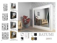 -- SAME DAY DELIVERY -- BATUMI SLIDING DOUBLE DOOR WARDROBES -- DIFFERENT SIZES & COLORS AVAILABLE