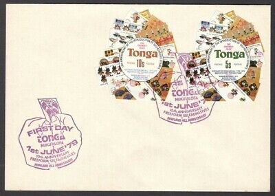 Tonga 1979 FDC First Day cover with odd shaped freeform stamps