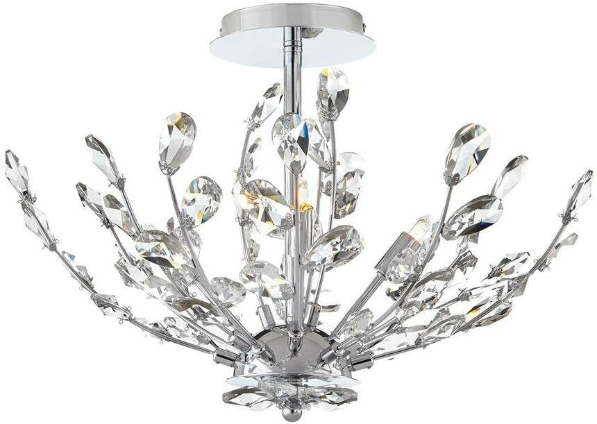 Home Decorators Collection Chandelier 20 in. 4-Light Chrome