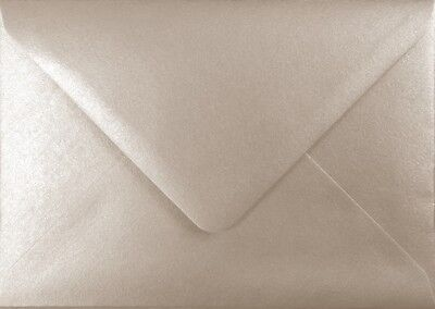 "133mm x 184mm / 5"" x 7"" Premium Metallic Silver Envelopes by Mad as a Crafter"