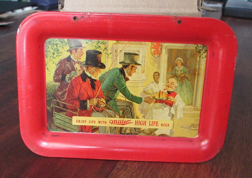 Vintage MILLER High Life Beer Hanging Tray, Miller Brewing Milwaukee WI - $1.00