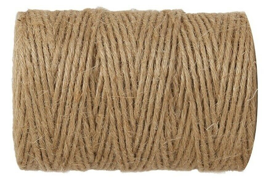 1-1500m 2 ply Natural Brown Soft Jute Twine Sisal String Rustic Shabby Cord Reel