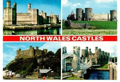 Nice card depicting North Wales Castles