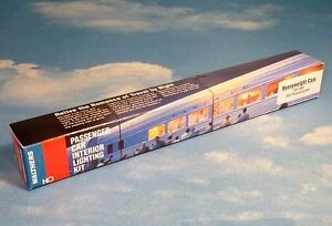 lighted passenger cars model railroads trains ebay. Black Bedroom Furniture Sets. Home Design Ideas