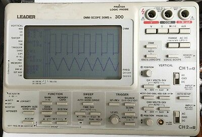 Leader Dmmscope 30mss With Multimeter