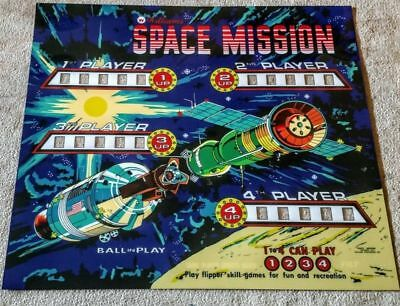 Williams Space Mission Pinball Machine Translite  Backglass
