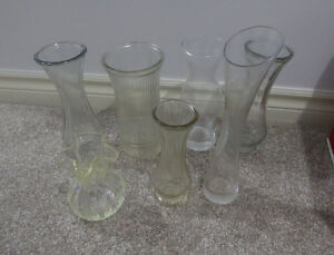 Various smaller clear glass vases $ 1 - $ 3 ea Kitchener / Waterloo Kitchener Area image 2