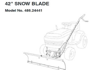 """42"""" Snow Blade for lawn tractor  $175"""