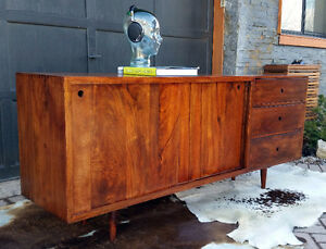 New Solid Wood Sideboards/ Buffets/ TV Media Consoles MCM Style