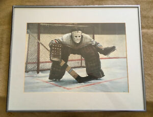 "Ken Danby's Classic ""At The Crease"" Signed & Framed Print"