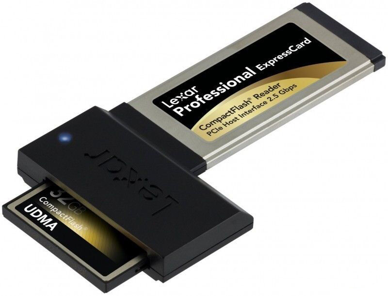 Lexar UDMA 6 Compact Flash CF to ExpressCard Card Reader Adapter For Laptop NB O