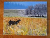 TOILE ¨paysage de chasse¨...¨hunting scene¨ OIL PAINTING