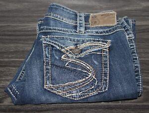Silver Jeans SUKI Surplus Dark Wash Boot Cut Jeans - W33 / L30