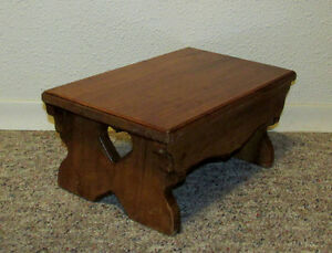Wintage Wood Country Style Footstool