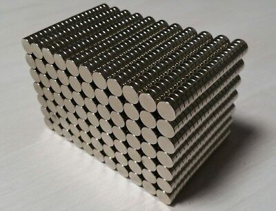 100 Neodymium N52 Cylinder Disc Magnets. Super Strong Rare Earth. 38 18