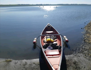 Canoe - Coleman 15 ft comes with outrigger.